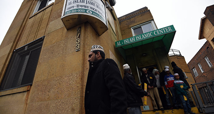 Muslims leave after participating in their weekly Friday noon special prayer at the Al-Islah Islamic Center Mosque in Hamtramck, Michigan, on January 8, 2016