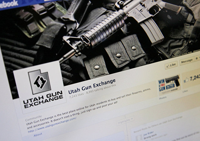 The Facebook page of the Utah Gun Exchange is seen Monday, Dec. 24, 2012