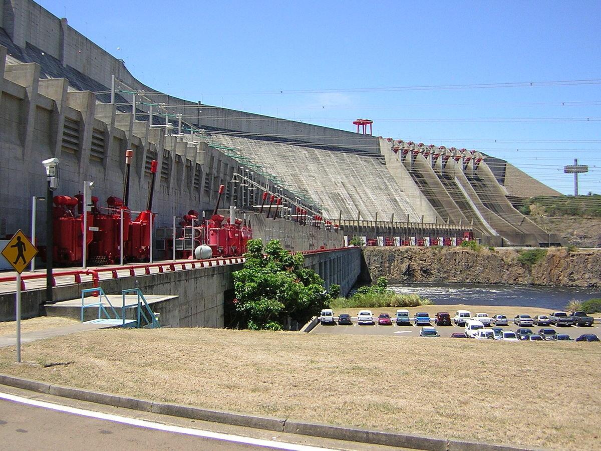 Panoramic view of the 10000MW Guri Dam in Venezuela, also called Simón Bolívar