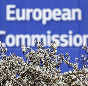 A sign is seen at the European Commission (EC) headquarters ahead of statements by the EC on the effectiveness of existing measures against tax evasion and money-laundering in light of the recent Panama Paper revelations, in Brussels, Belgium, April 12, 2016.