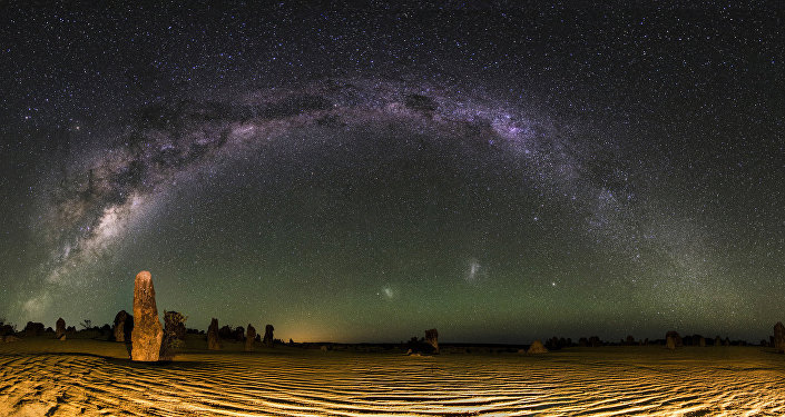 Milky Way Panorama - The Pinnacles Desert, Western Australia