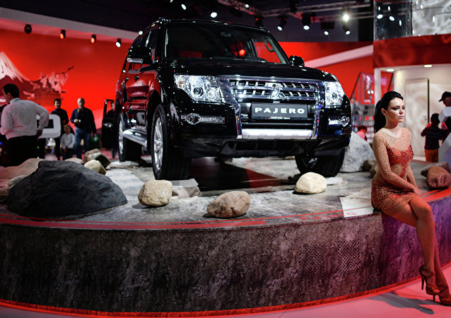 A file photo of a Mitsubishi Pajero at Moscow International Automobile Salon
