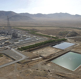 A general view shows a heavy water plant in Arak, 320 kms south of Tehran