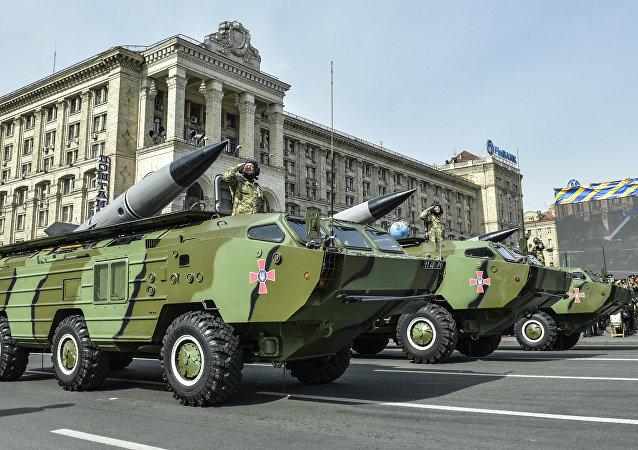 9K79 Tochka-U shorter-range missile systems of the Ukrainian Armed Forces