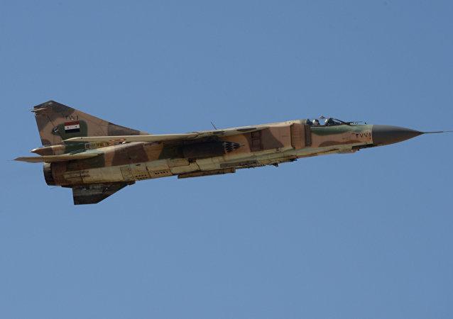 Syrian army's Mig-23 jet