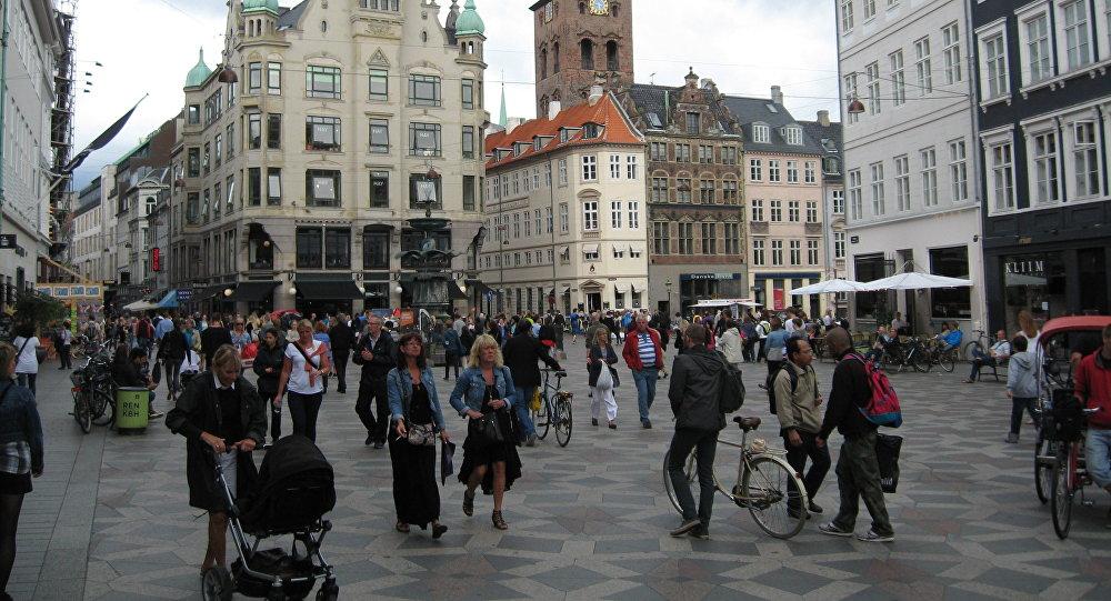 Stroget street, Copenhagen