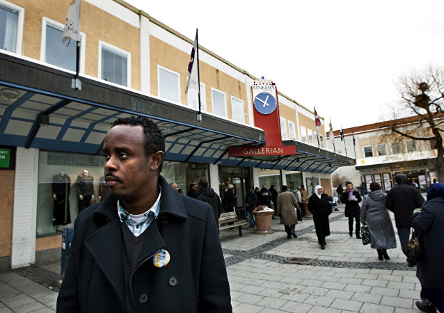 Rinkeby, an largely immigrant suburb on the outskirts of Stockholm