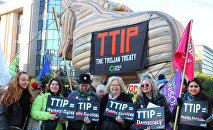 Protest Against the TTIP Trade Pact