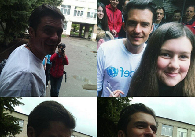 Orlando Bloom visits Ukraine