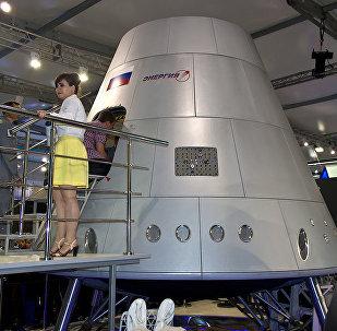 Full-scale model of Energia's Federatsiya spaceship.