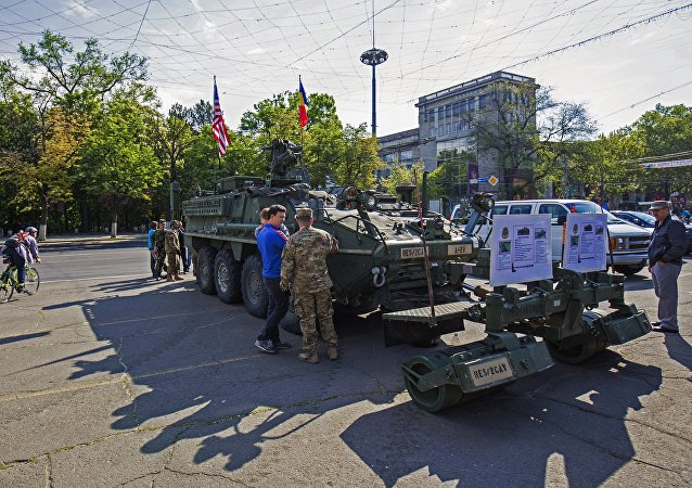US military equipment in Chisinau