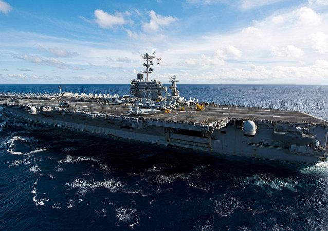 The Nimitz-class aircraft carrier USS John C. Stennis