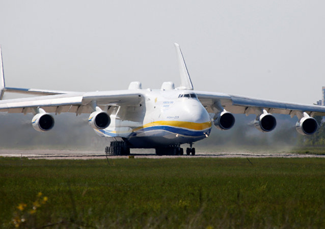 Antonov An-225 Mriya, a cargo plane which is the world's biggest aircraft, drives along an airfield starting its first commercial flight to the Australian city of Perth, in the settlement of Hostomel outside Kiev, Ukraine, May 10, 2016