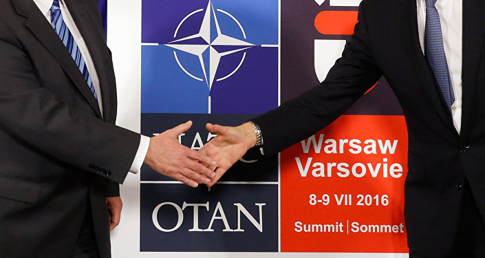 Logo for the upcoming NATO Warsaw summit 2016