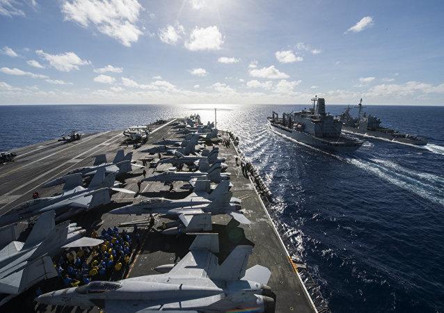 US ships