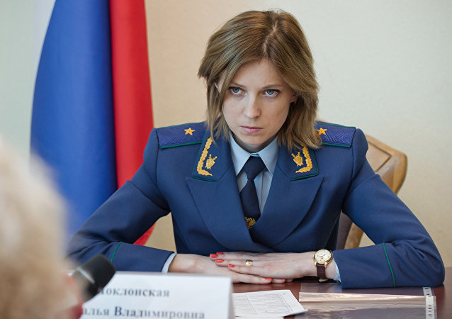 Crimea's Prosecutor General Natalya Poklonskaya receives citizens to discuss private matters