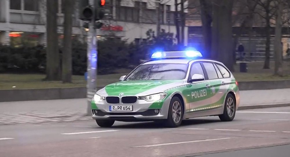 German BMW police car