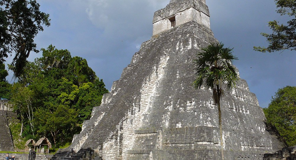 The Temple of The Grand Jaguar in abandoned Tikal