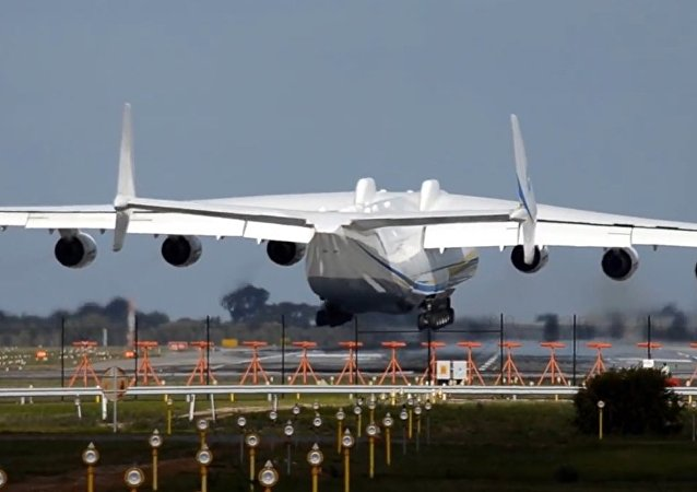 Antonov AN-225 Mriya The largest aircraft in the world, landing in Perth airport