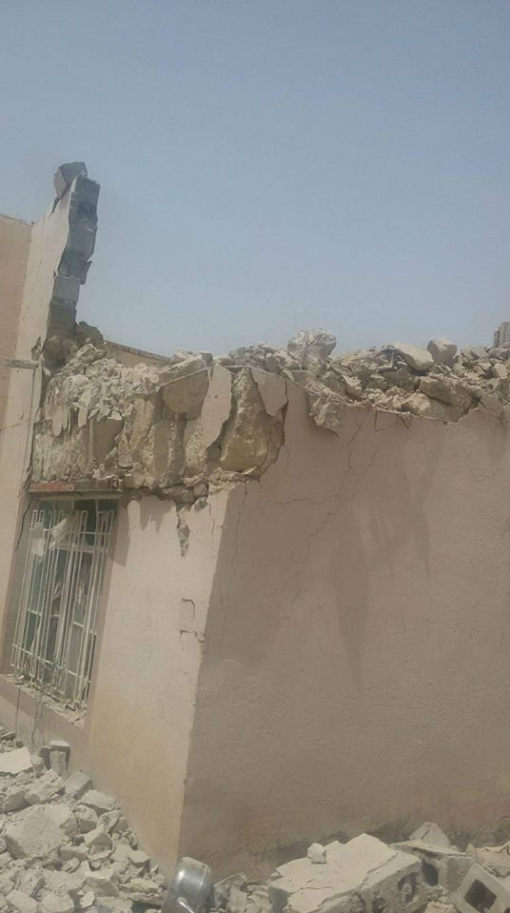 The consequences of the Daesh missile attack on the town of Al-Khalidiya