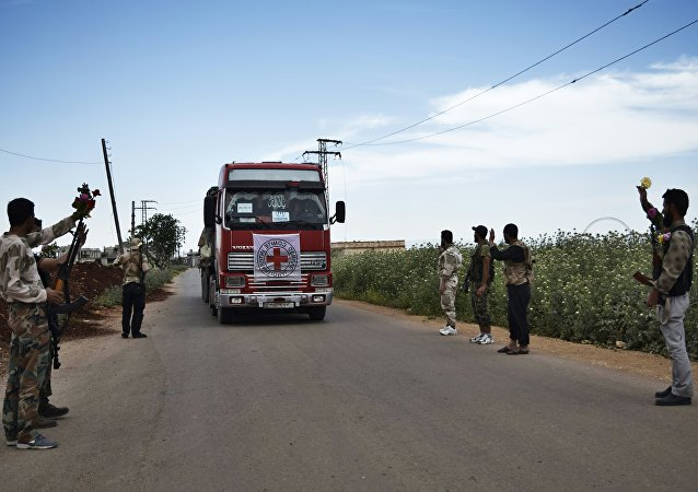 An aid truck of the International Committee of the Red Cross (ICRC). Syria (File)