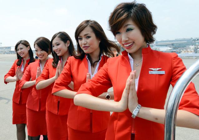 Air Asia Japan's cabin attendants