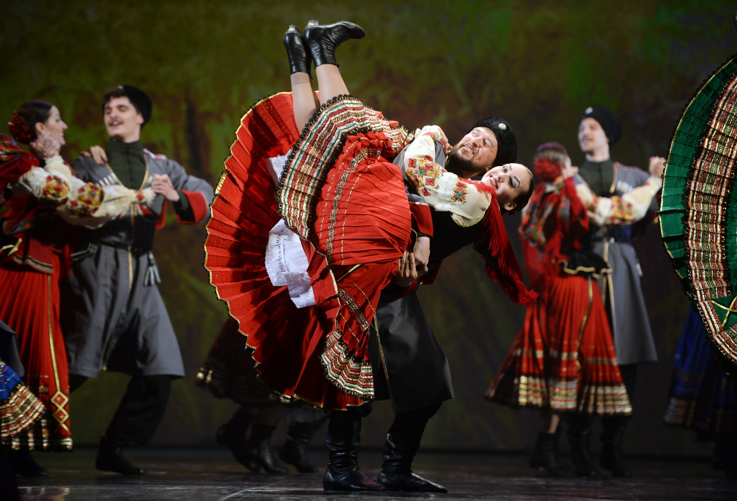 Dancers perform at the concert to mark the opening of the ASEAN-Russia Culture Festival