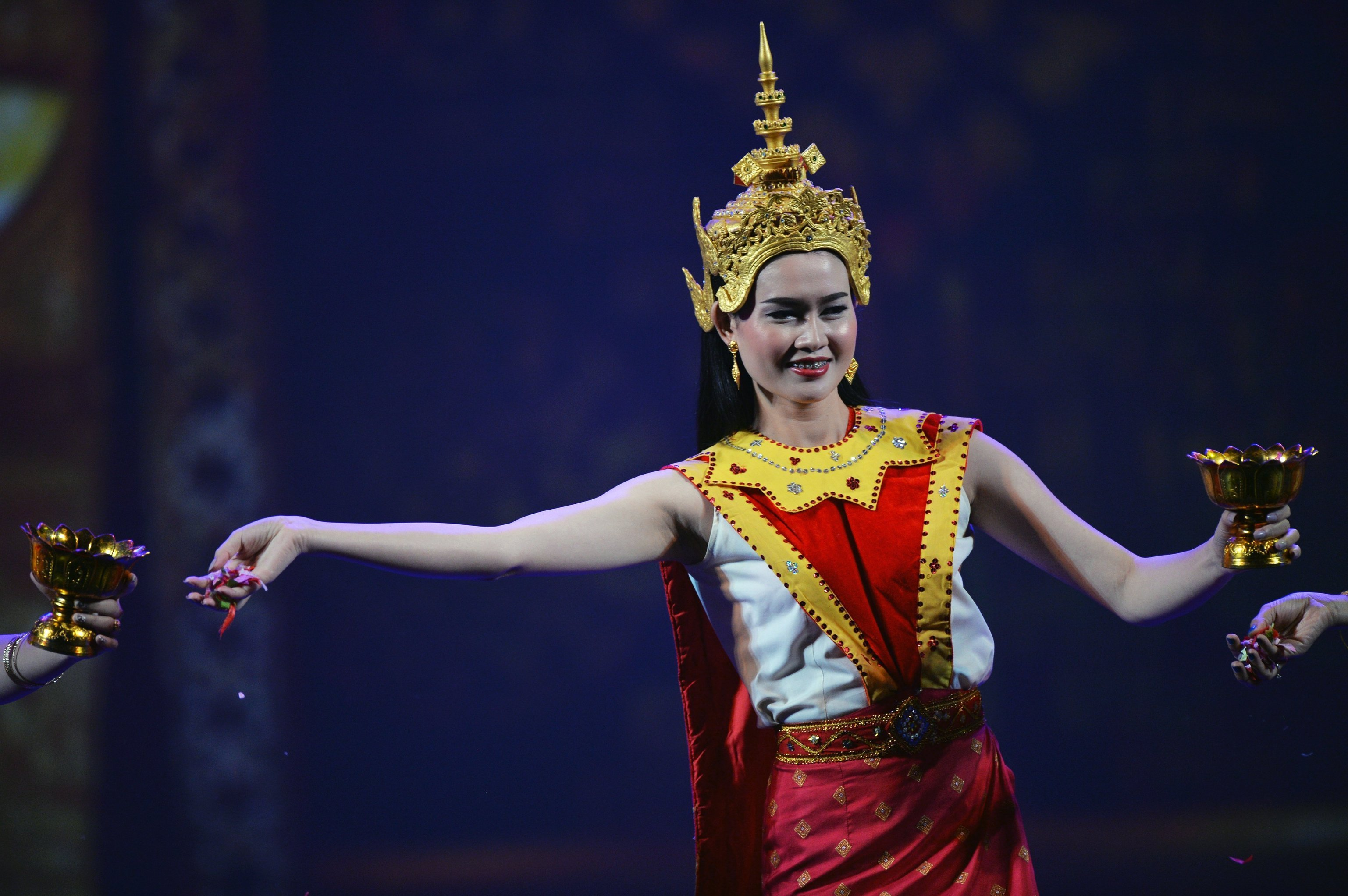 A dancer performs at the concert to mark the opening of the ASEAN-Russia Culture Festival