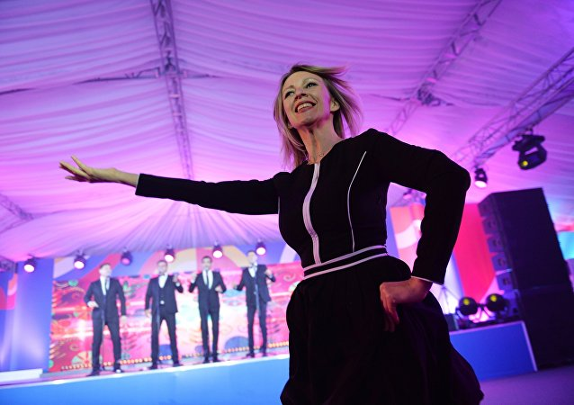 Russian Foreign Ministry Spokesperson Maria Zakharova dances at the gala evening for the media at the ASEAN-Russia Summit in Sochi