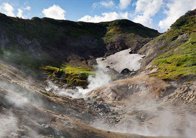 Dachnye hot springs in Kamchatka.
