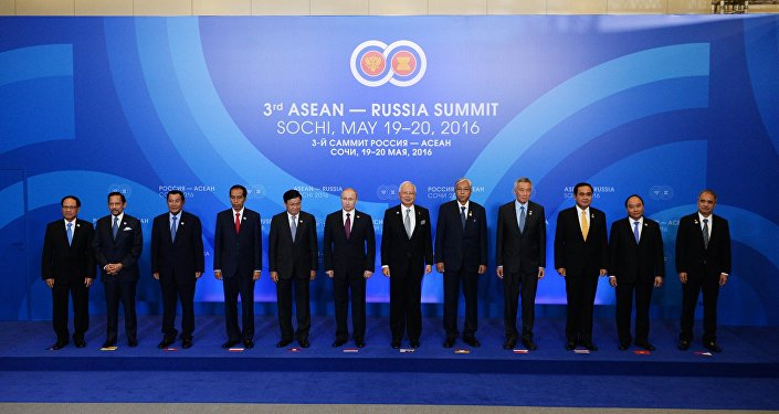Photo session of the delegation heads - ASEAN-Russia Summit participants at the Radisson Blu Resort & Congress Centre in Sochi