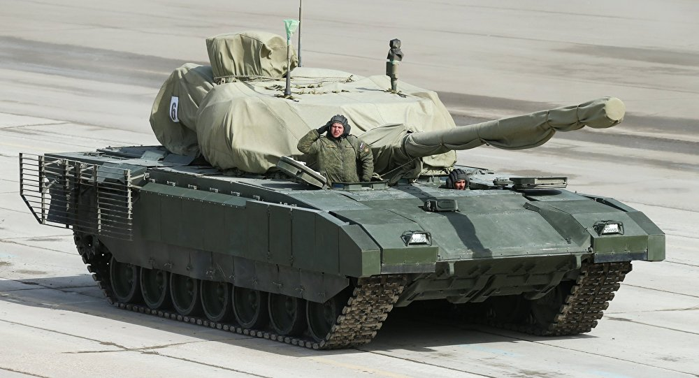 Armata heavy military tracked vehicle platform