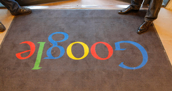 A Google carpet is seen at the entrance of the new headquarters of Google France before its official inauguration in Paris, France December 6, 2011