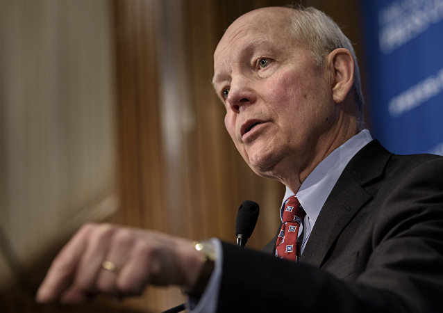 Internal Revenue Service Commissioner John Koskinen speaks during a luncheon at the National Press Club March 24, 2016 in Washington, DC