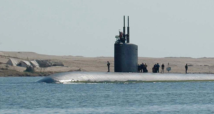 The attack submarine USS Alexandria (SSN-757).