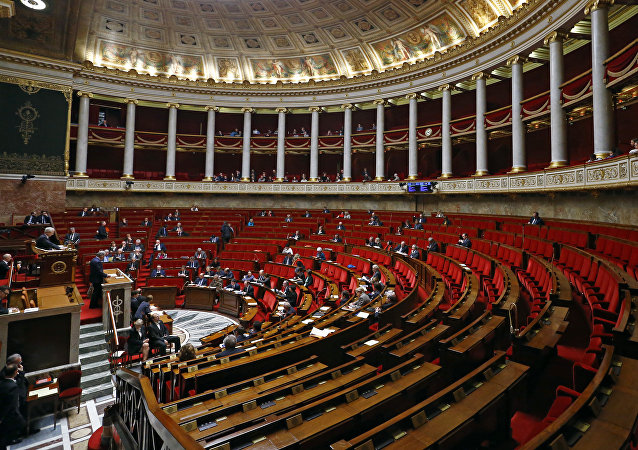General view of the France's National Assembly, lower house of Parliament  in Paris, France