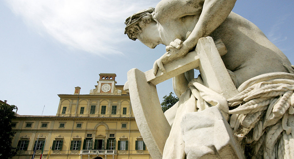 An outside view shows the Ducale palace, headquarters of the European Food Safety Authority (EFSA) in Parma. (File)
