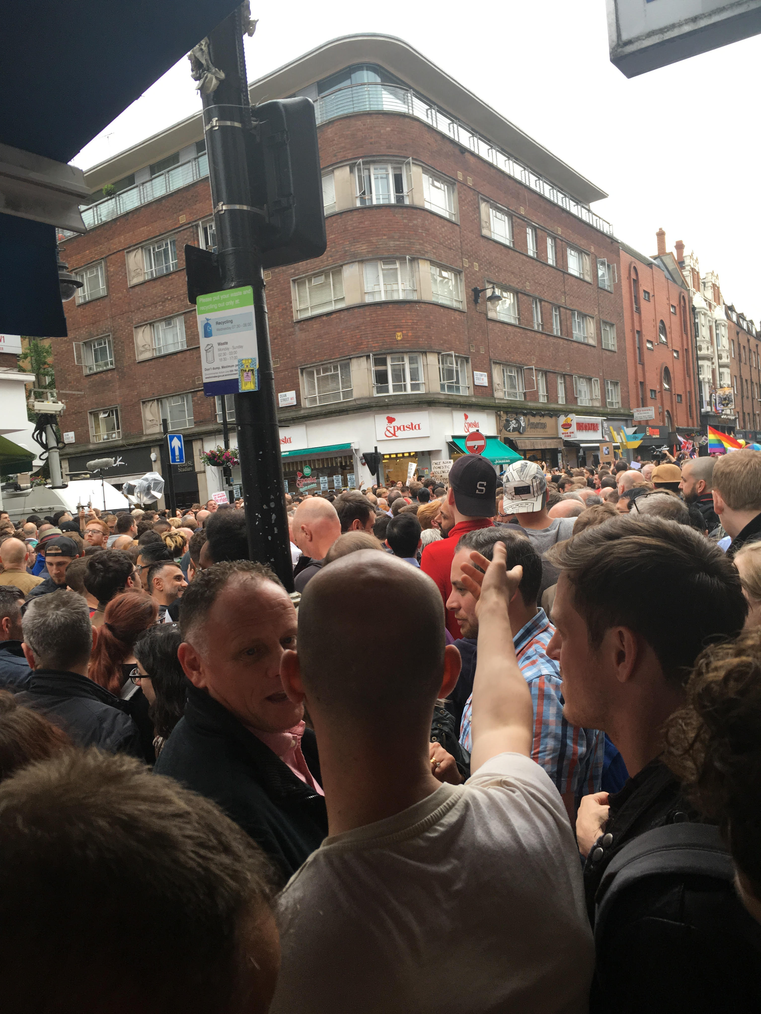 Londoners gather in Soho for a vigil in honor of Orlando shooting victims