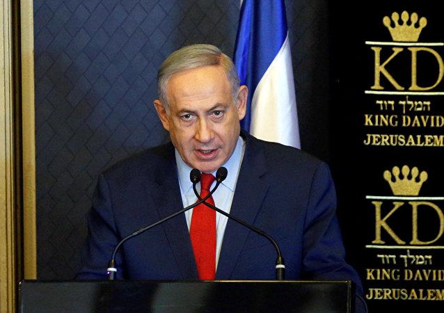 Israeli Prime Minister Benjamin Netanyahu speaks during a meeting with ambassadors from NATO member states, in Jerusalem June 14, 2016.