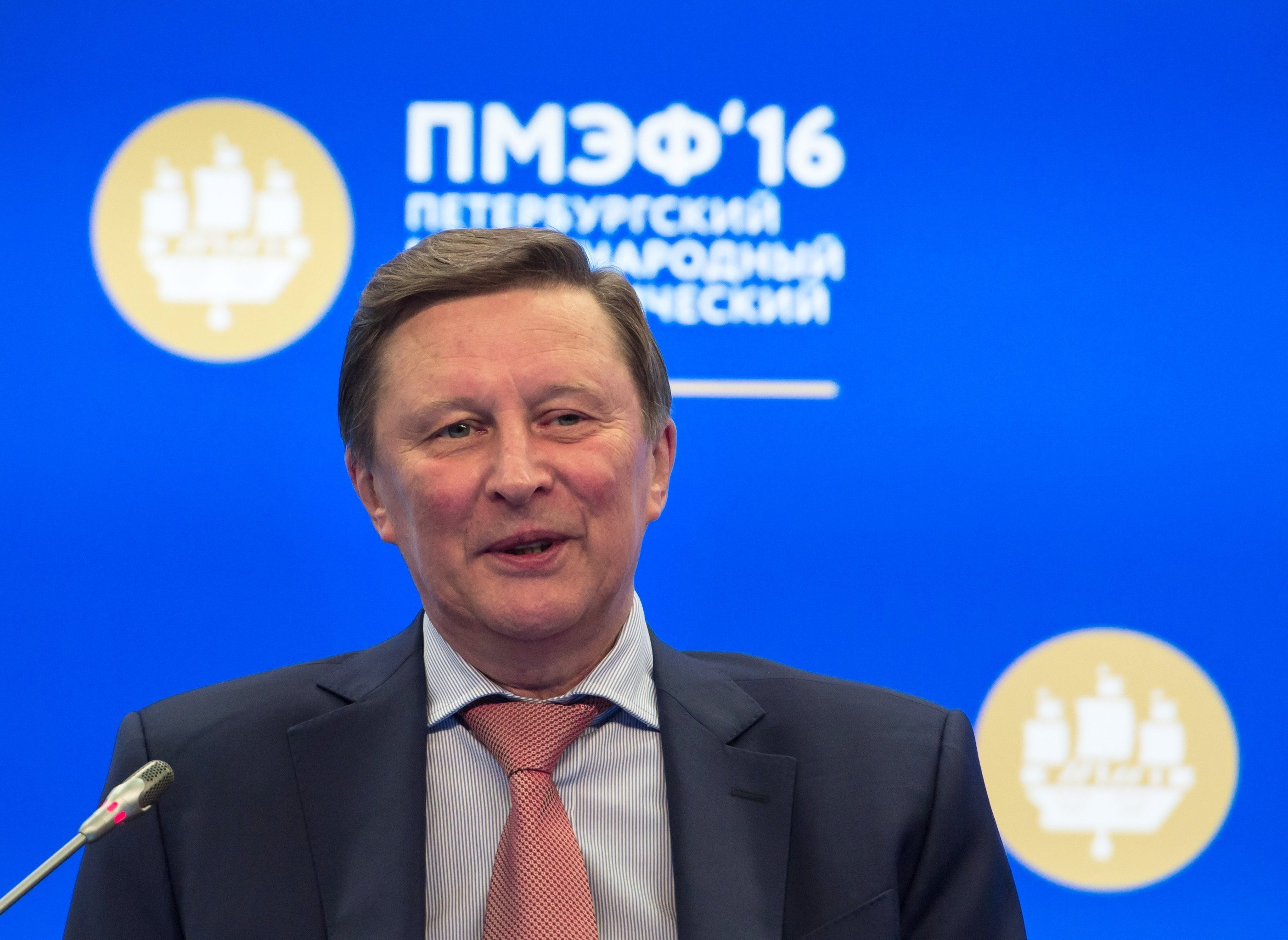 Sergei Ivanov, Chief of Staff of the Presidential Executive Office of the Russian Federation, at the panel session Boosting the Bottom Line with Clean Tech at the 20th St. Petersburg International Economic Forum