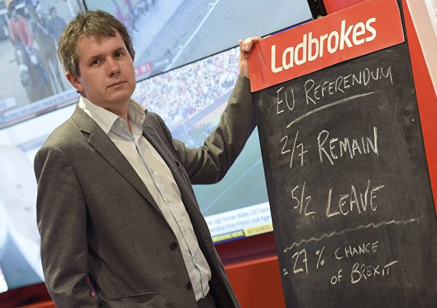 Matthew Shaddick, Head of Political Betting at Ladbrokes, poses for a photograph at a branch of Ladbrokes in central London, Britain May 17, 2016.