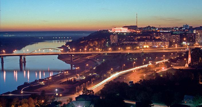 River Belaya embankment in Ufa