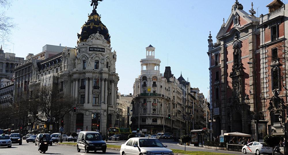 Edificio Metropolis building on Gran Via Street. Madrid