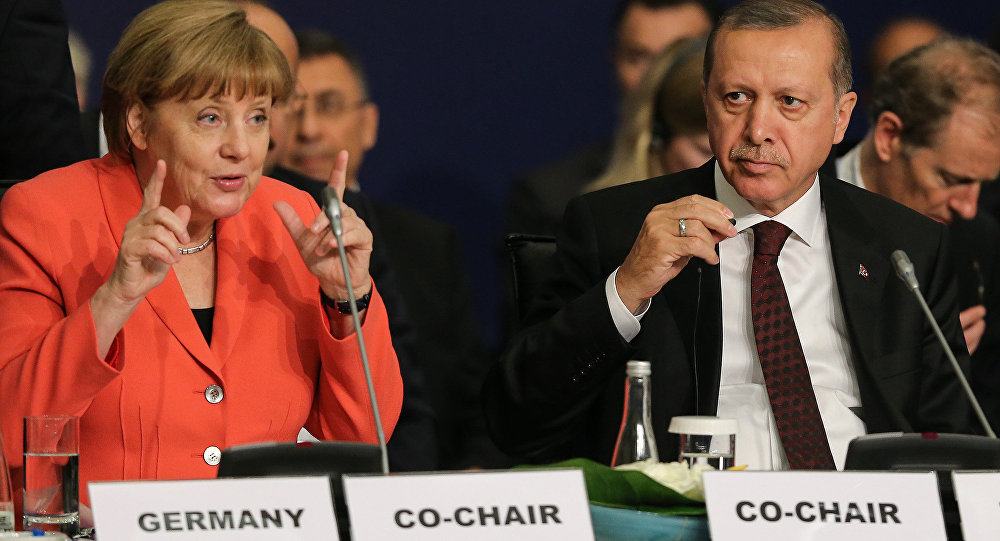 Increased tensions between Recep Tayyip Erdogan and Angela Merkel after Turkey ban MPs from airbase