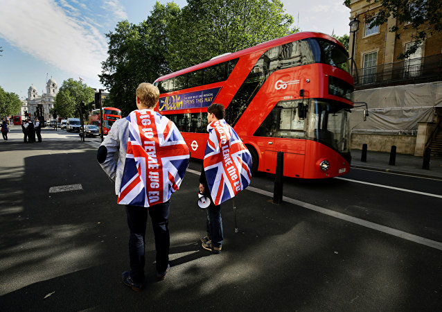 Vote leave supporters stand outside Downing Street in London, Britain June 24, 2016 after Britain voted to leave the European Union