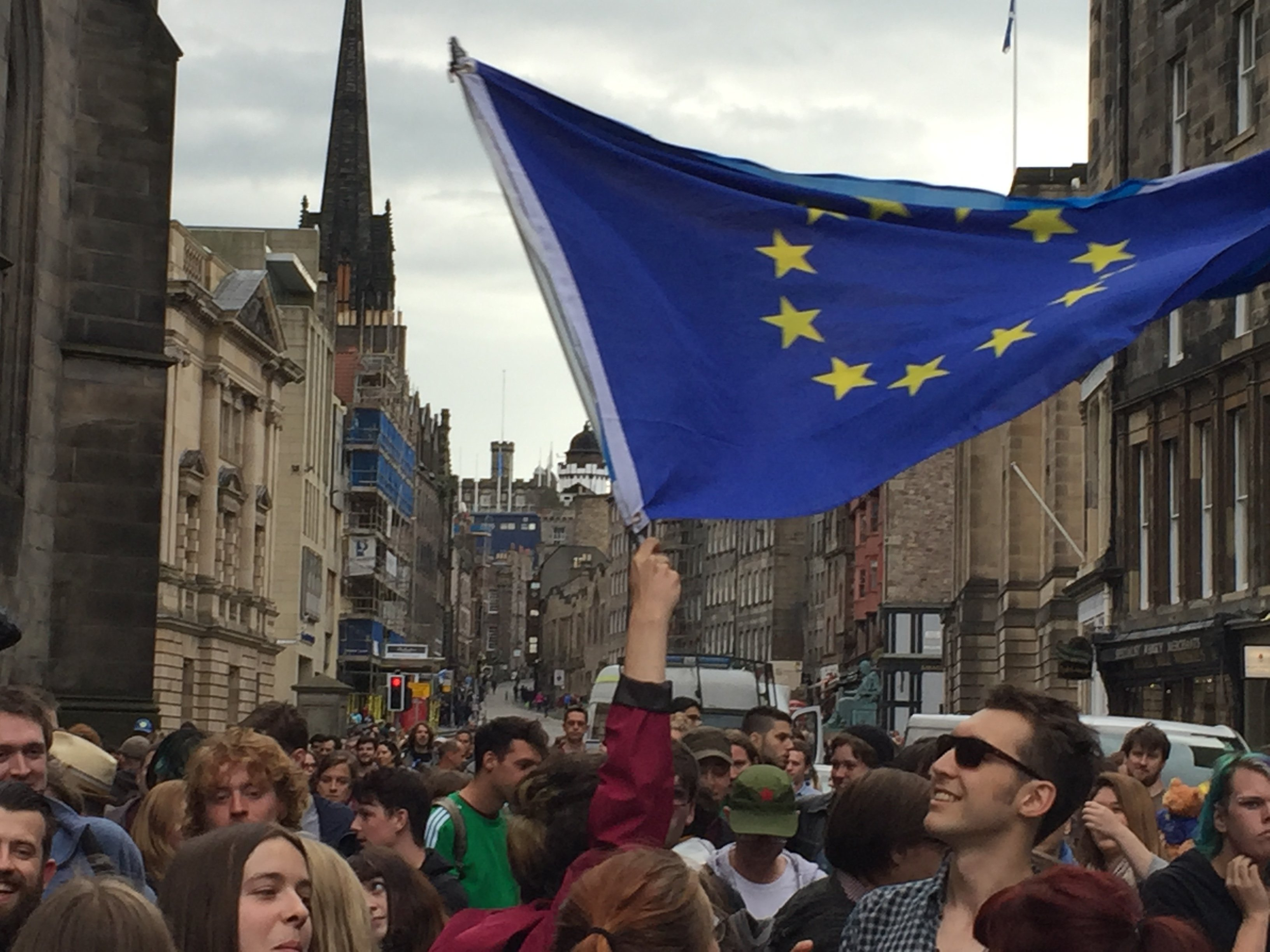 Pro-EU rallies held throughout Scotland as rest of the UK votes for Brexit