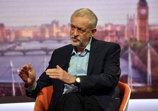Britain's opposition Labour Party leader Jeremy Corbyn is seen speaking on the BBC's Andrew Marr Show in this photograph received via the BBC in London, Britain June 19, 2016