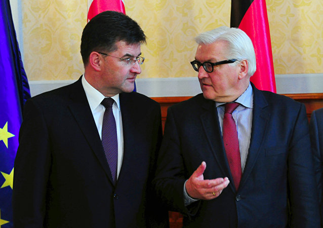 Slovakia's foreign minister Miroslav Lajcak and German foreign minister Frank-Walter Steinmeier. File photo