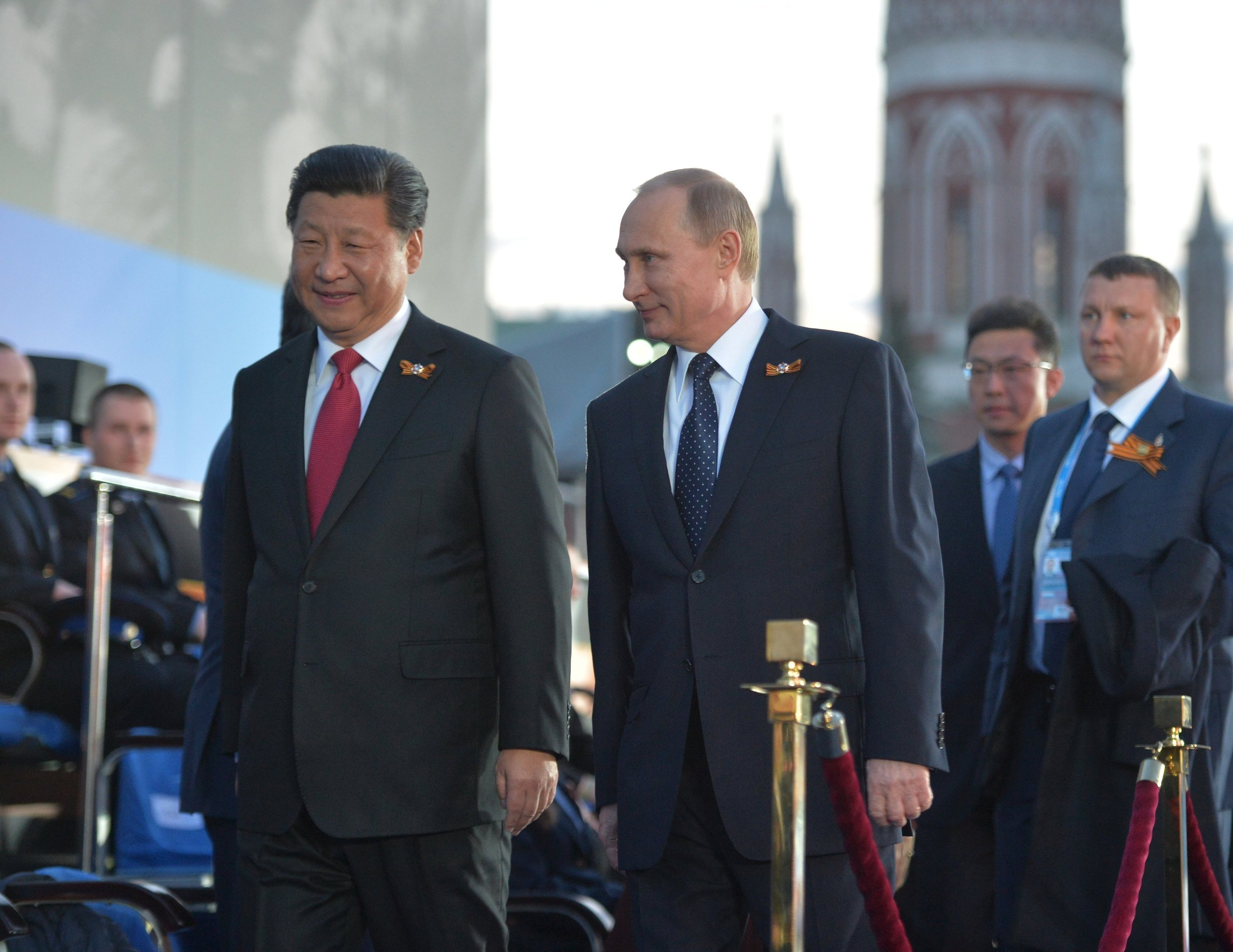 Russian President Vladimir Putin and President of the People's Republic of China Xi Jinping