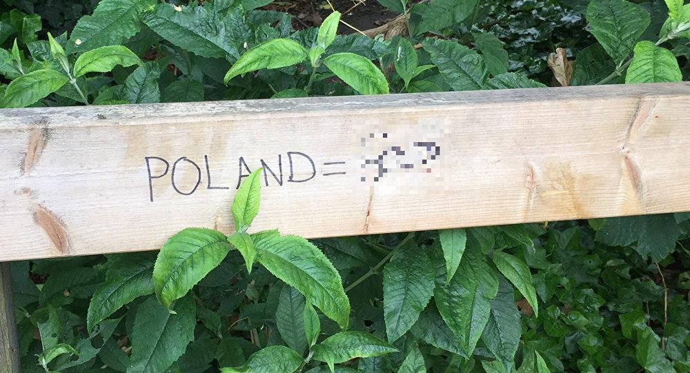 Post-Brexit anti-Polish explicit graffiti in South London.